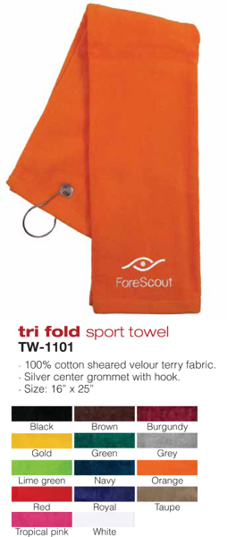 Imprinted Tri-Fold Sport Towel