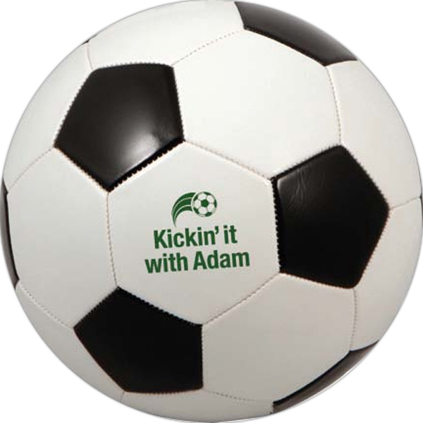Personalized Regulation Size Black & White Soccer Ball