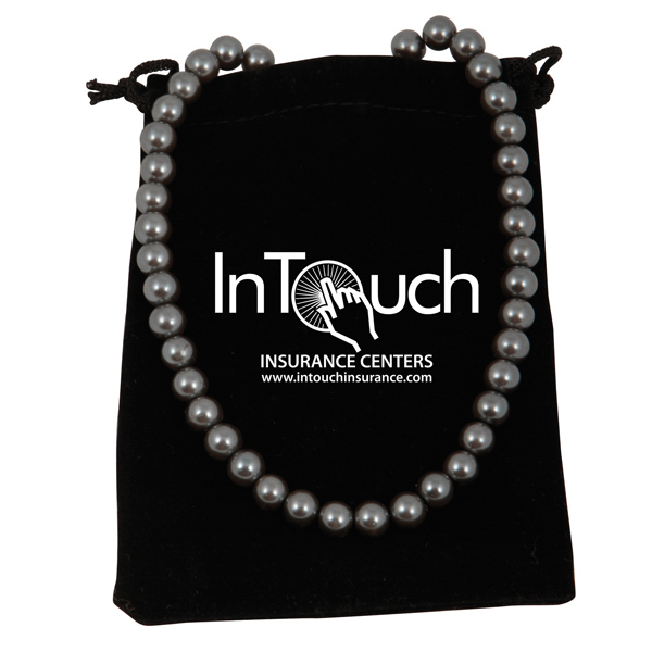 Promotional Charcoal Glass Pearl Necklace