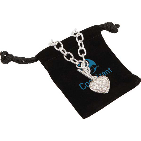 Promotional Crystal Heart Bracelet