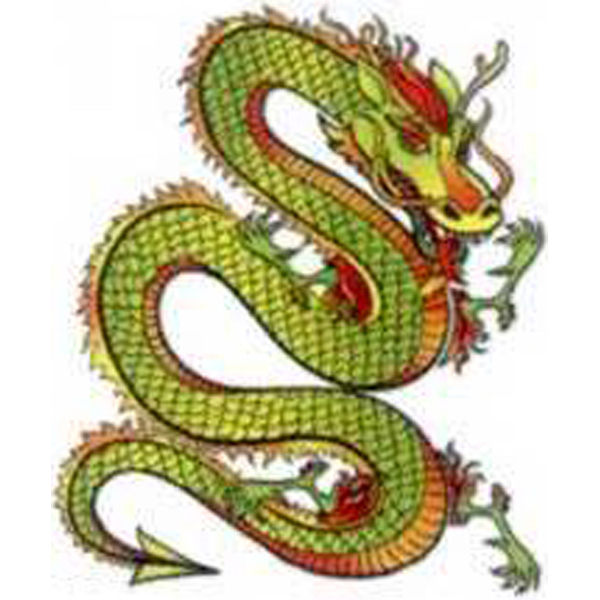 Imprinted Flying Dragon Tattoos