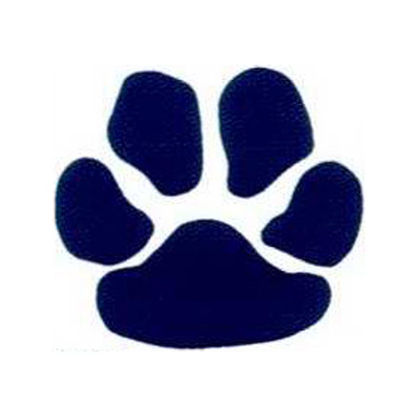 Customized Temporary Navy Paw Print Tattoos