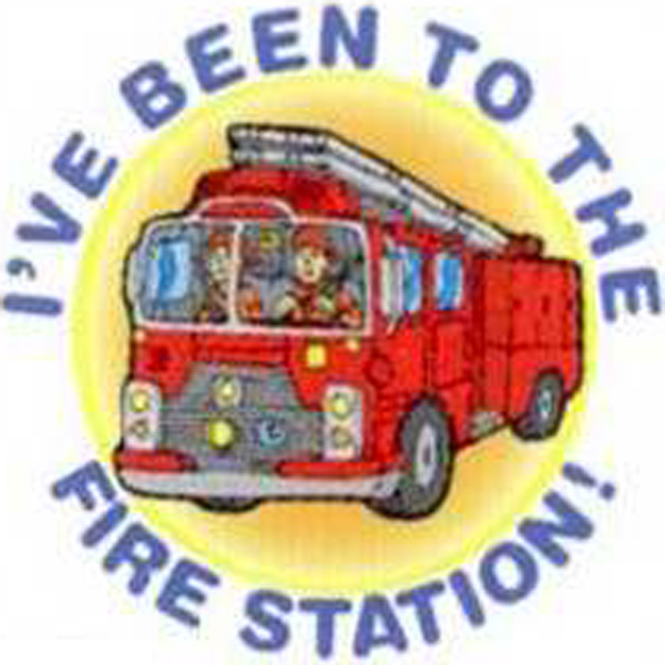 Imprinted Temporary Fire Truck - I've Been to the Fire StationTattoos