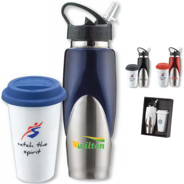 Promotional The Melrose Hot and Cold Drinkware Set