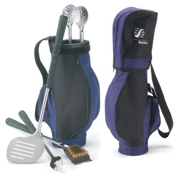 Personalized The Golfers Grill BBQ Set in Golf Bag