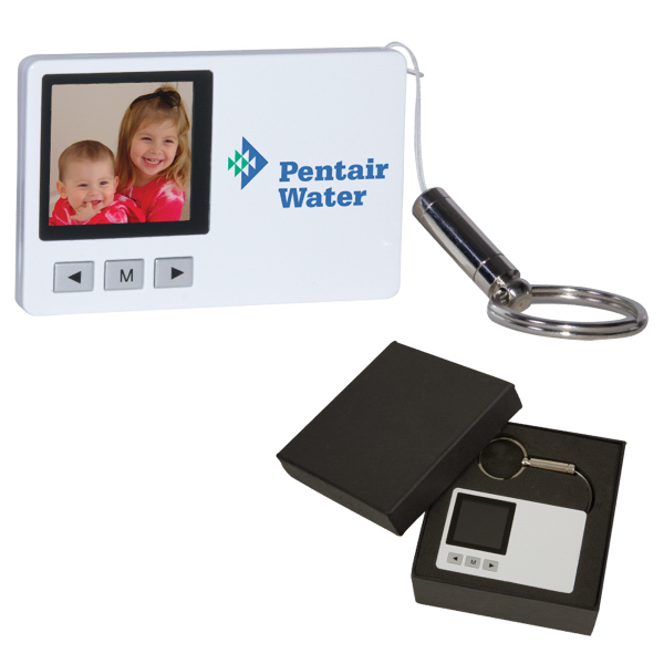 "Personalized 1.5"" Credit Card Digital Picture Frame Key Chain"