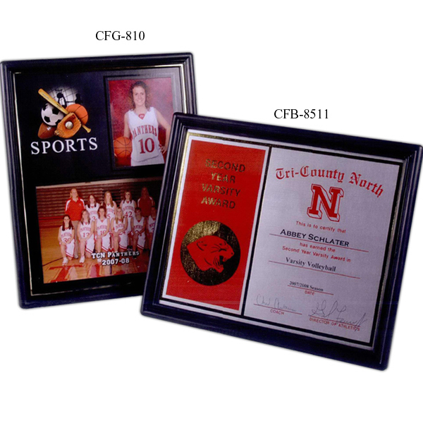 "Imprinted 8 1/2"" x 11"" Certificate Frame"
