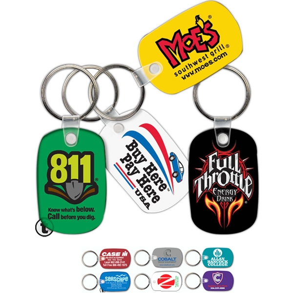 Promotional Key Tag - Standard Oval - Spot Color