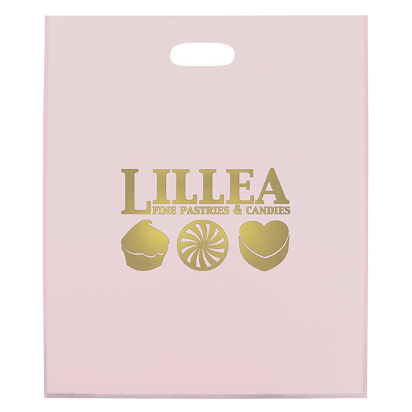 Imprinted Frosted Die Cut 1-Color Hot Stamp Foil