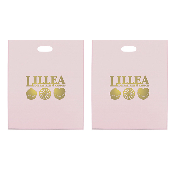 Promotional Frosted Die Cut 1-Color Hot Stamp Foil
