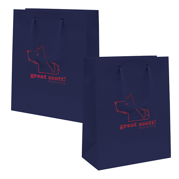 Imprinted Gloss EuroTote 1-Color Hot Stamp