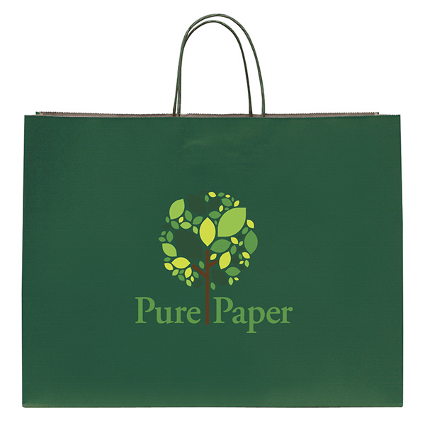 Customized Tinted Shopper 1-Color Hot Stamp