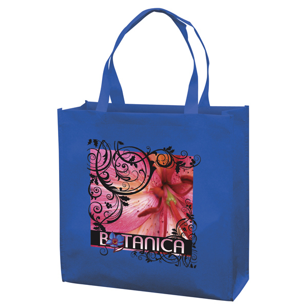 Custom RPET Responsible Market Tote Full-Color Transfer