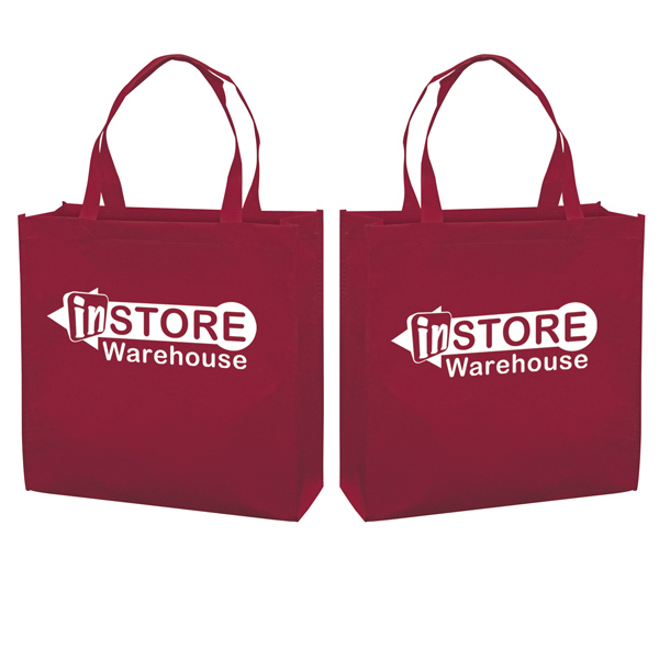 Custom RPET Responsible Market Tote 1-Color Screen Print