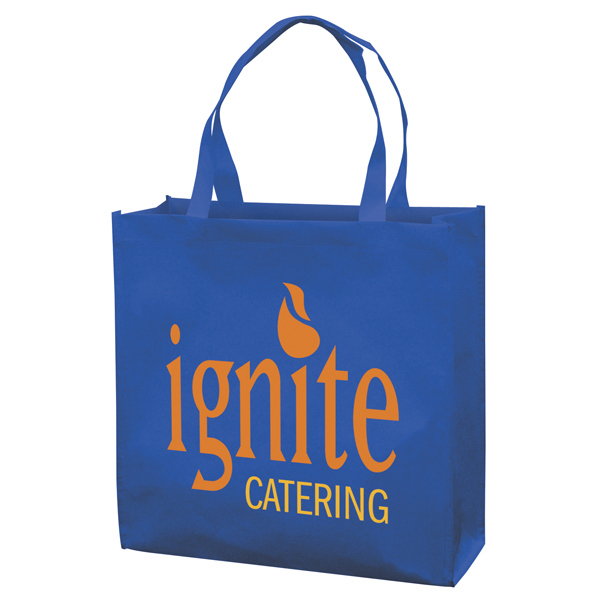 Personalized RPET Responsible Market Tote 2-Color Screen Print