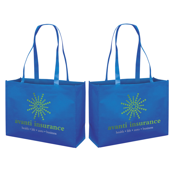 Custom RPET Responsible Market Tote 2-Color Screen Print