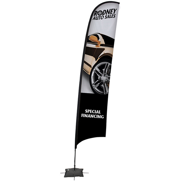 Promotional Razor Sail Sign