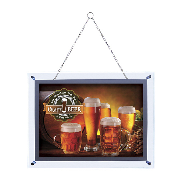 Customized 25-inch x 31-inch Crystal Edge Light Box