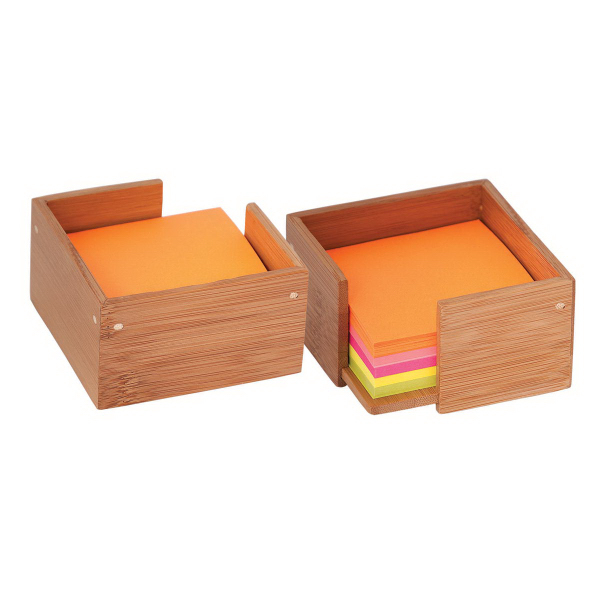 Promotional Bamboo sticky note / memo holder
