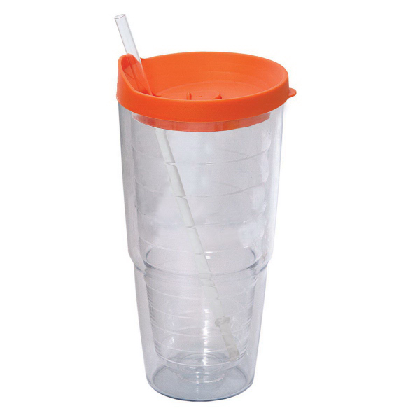 Custom 709 ml (24 oz) jumbo double wall acrylic tumbler