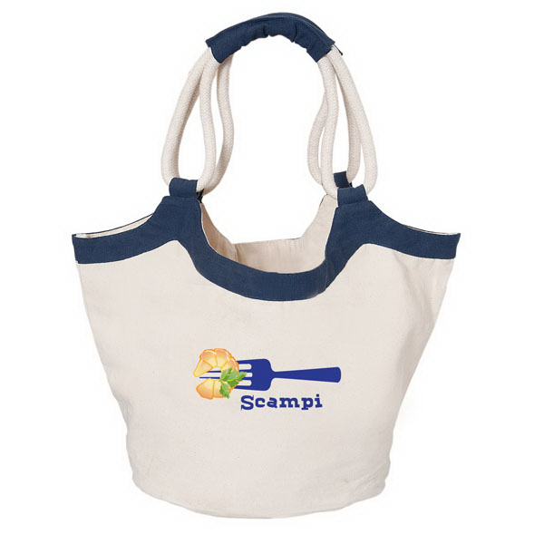 Promotional Cotton tote with rope handles