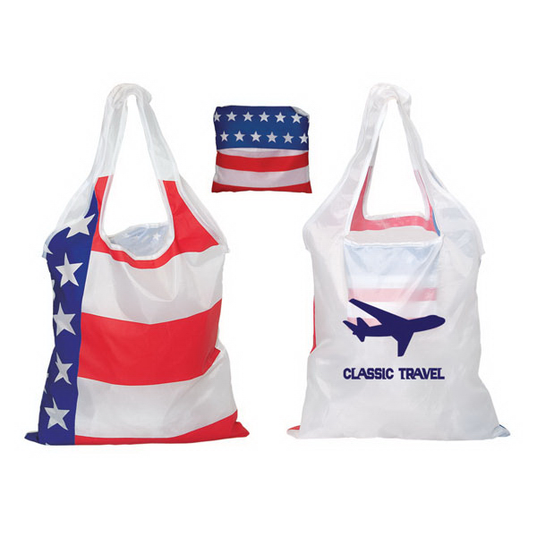 Custom Folding USA tote