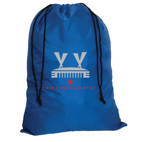 Promotional Cobalt Folding drawstring shopping bag