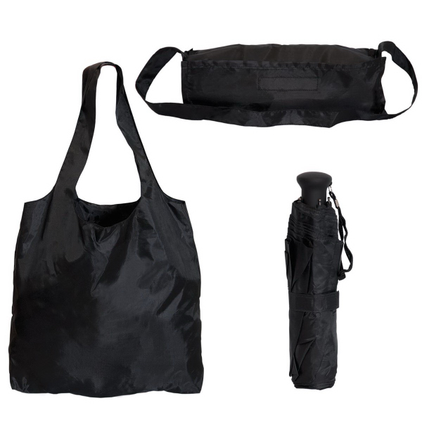 Personalized Folding tote bag with umbrella