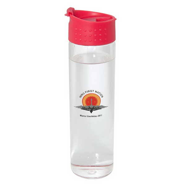 Imprinted 600 ml (20 oz) single wall glass bottle
