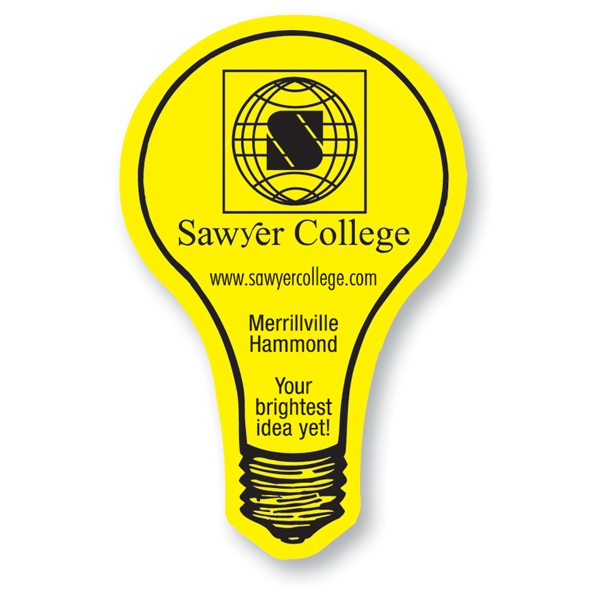 Printed Magnet - Light Bulb - Full Color