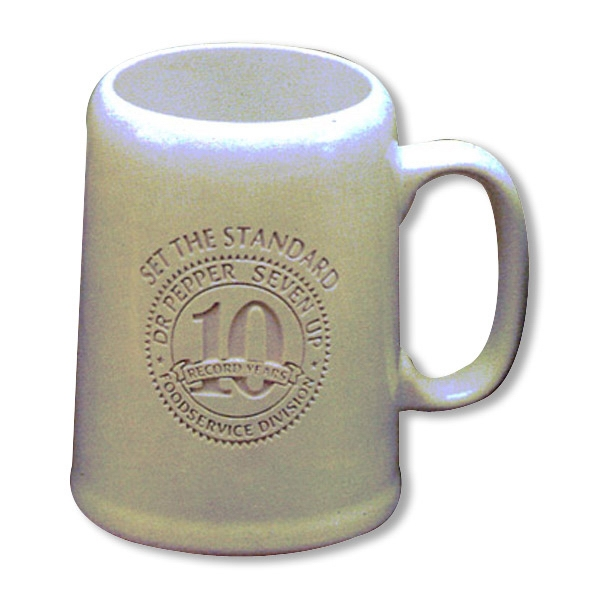 Imprinted Tankard White Mug