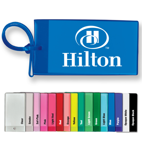 Imprinted Bag & Luggage Tag - Business Card Insert - Spot Color