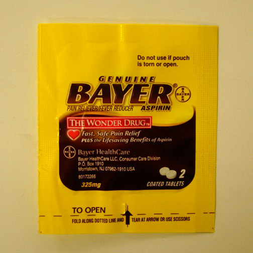 Imprinted Bayer (R) Packet