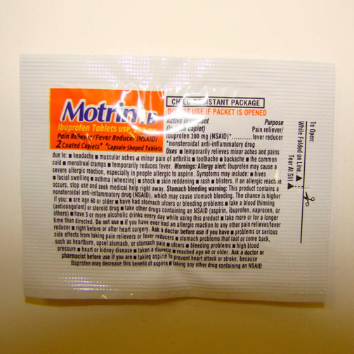 Promotional Motrin (R) Tablets (2)