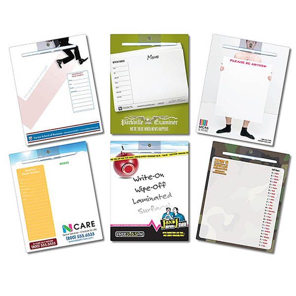 Customized Memo board - 8.5 x 11 Extra Thick Laminated - 24 pt
