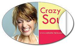 Personalized Removable Sticker/Decal - Vinyl UV Coated - 5x3 Oval