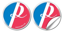 Customized Removable Circle Bumper Sticker / Decal - Vinyl UV Coated