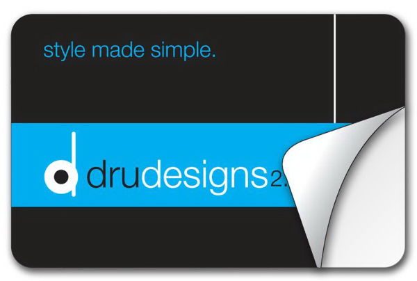 Printed Removable Rectangle Round Corner Sticker/Decal-Vinyl UV Ctd
