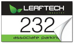 Customized White Vinyl Parking Permit Sticker - 3.5x2 Rectangle