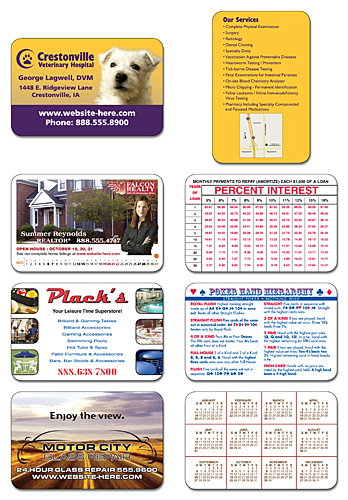 Personalized Extra-Thick UV-Coated (1S) Wallet Card - 3.5x2.25 (2-sided)