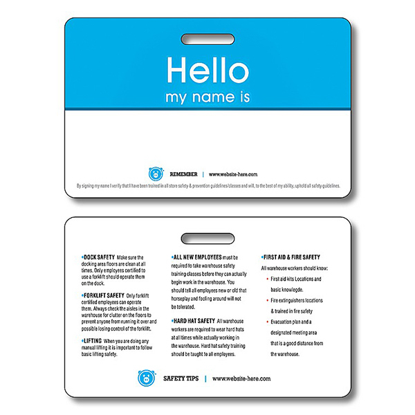 Promotional Plastic UV-Coated (1S) I.D./Wallet Card with Punch