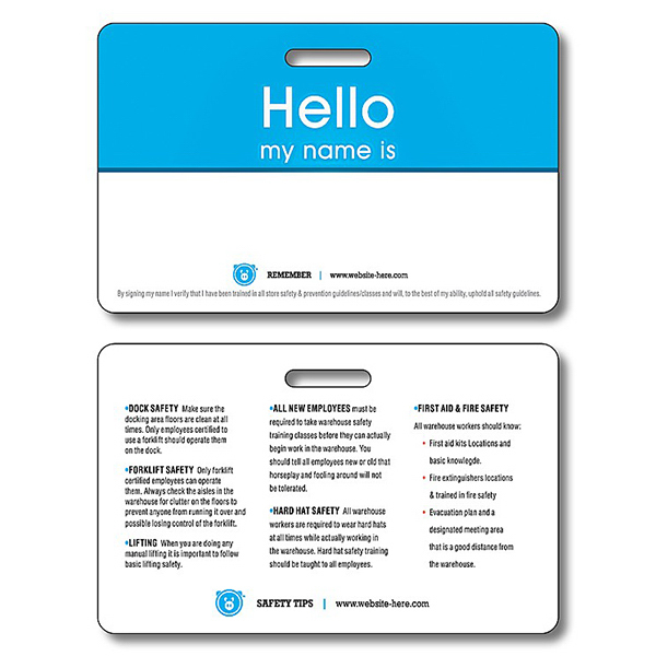 Promotional Extra-Thick Plastic I.D./Wallet Card with Punch- 2.125x3.375