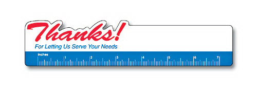 "Printed 1 3/4"" x 8"" Bookmark/Ruler with Page Holder"