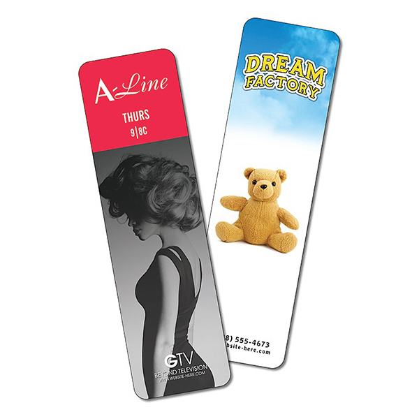 Printed Plastic Bookmark - 2x7 Laminated - 14 pt