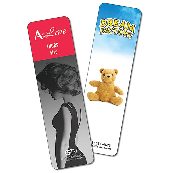 Printed Bookmark - 2x7 Extra-Thick Laminated - 24 pt