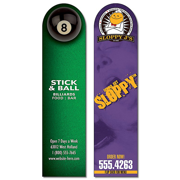 Custom Plastic Bookmark - 1.75x7 Laminated with Round Tip - 14 pt