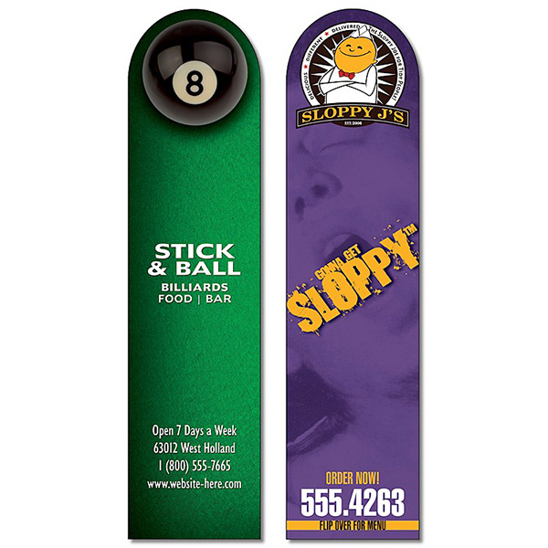 Personalized Plastic Bookmark - 1.75x7 Extra-Thick UV-Coated (1S)