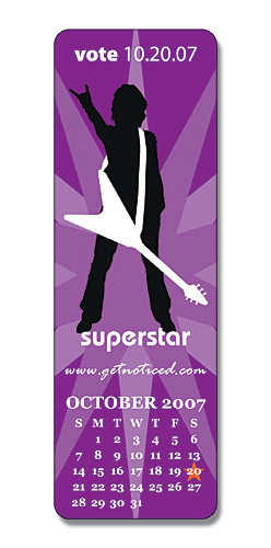 "Promotional 2"" x 6"" Bookmark/Ruler"