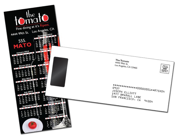 Promotional Card/Postcard UV Coated (1S) with Magnet - 3.5x8.5