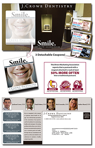 Imprinted Magna-Peel Postcard (10.5x5.5) with 3 Perforated Coupons